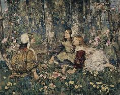 The Music of the Woods  Edward Atkinson Hornel  1906