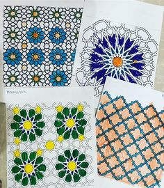 Islamic art colouring - fantastic concentration and fine motor skills by our kids today. We talked about Islamic art looking so beautiful because it was full of shapes and colour patterns. We guided the kids so they could see it for themselves-really proud of what they managed to do - MashaAllah! What do you guys think? @zendisaa @phlyy86 @marymaes_art @ninjacodeartist . . . #islamicart #teachermama #artsy #homeeducation #homeed #geometric #geometricart #mosaic #designs #colouring #patterns…