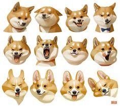 learn to sketch Cute Animal Drawings, Animal Sketches, Cartoon Drawings, Cute Drawings, Dog Illustration, Character Illustration, Illustrations, Digital Illustration, Dibujos Cute