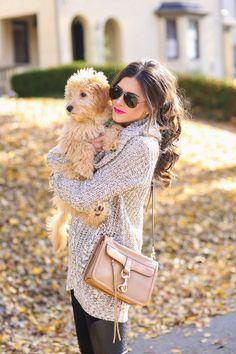 Fall + puppy