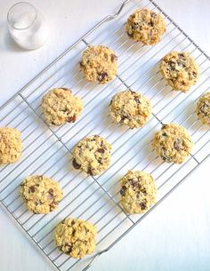 Easy gluten-free chocolate oatmeal cookies are perfect for a Fourth of July party! #restandrelish #glutenfreedesserts #fourthofjulycookies