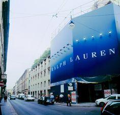 Maxi Affissioni Milano, superficie 750 mq Ralph Lauren via Montenapoleone milano