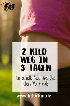 Abnehmen am Bauch – das geht! Mit unserer Blitz-Diät bekommst du in 3 Tagen dein Fett weg!
