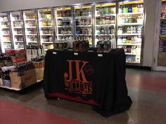J.K. Williams Distilling loved the new tablecloth addition that helped complete our tasting displays!