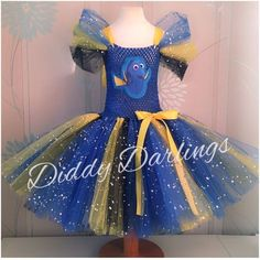 Finding Dory Tutu Dress Sparkly Tutu Dress Dory Costume Party Find Nemo Costume #DiddyDarlings #CasualFormalParty
