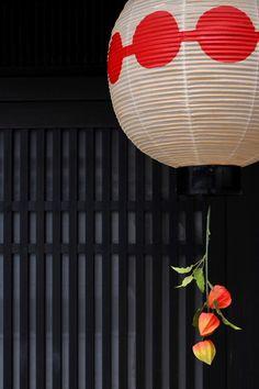 Japanese lantern and Japanese lantern plants (alkekengi) : Kamishichiken, Kyoto