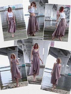 Vestido Convertible, Convertible Clothing, Diy Dress, Dress Skirt, Wrap Dress, Greek Goddess Dress, Wrap Clothing, Multi Way Dress, Cocktail Outfit