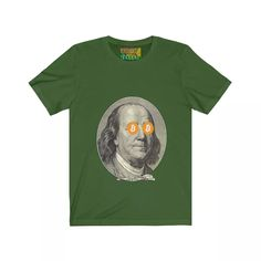 This updated unisex essential fits like a well-loved favorite. Super soft cotton and excellent quality Ben Franklin Bitcoin HODL print. Shirt Designs, T Shirt, Unisex, Fabric, Mens Tops, Humor, Supreme T Shirt, Tejido, Tee