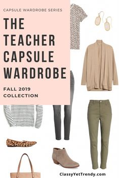 The Teacher Capsule Wardrobe Fall 2019 The Teacher Capsule Wardrobe Herbst 2019 Vorschau + 10 . Teacher Wardrobe, Capsule Wardrobe Work, Capsule Outfits, Fashion Capsule, Fall Wardrobe, Fall Outfits, Teacher Clothes, Work Outfits, Work Attire