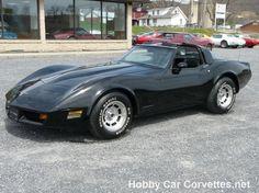 GM 1981 black/black corvette 1981 BLACK CORVETTE T-TOP