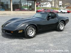 BLACK-BLACK CORVETTE T TOP  --  Classic C3 Corvettes for sale at Hobby Car Corvettes