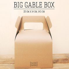 Our largest size of Gable Box. It can carry more things!