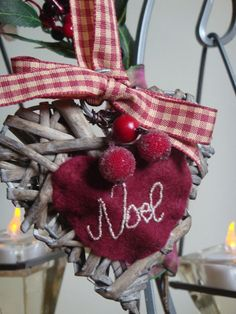 Shabby Chic Christmas Heart Tree Decoration by Welsheggdesigns, £3.90