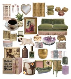 """""""My Dream Home Design"""" by denika-l-clay ❤ liked on Polyvore featuring interior, interiors, interior design, home, home decor, interior decorating, Arteriors, Orla Kiely, Benefit and Essie"""