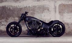 I like this flat black bike too.  Very sleek lines and not a chopper style.