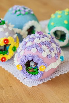 Making Peek-A-Boo Easter Eggs is a fun, kid-friendly project. With a little help, kids can take charge of measuring, mixing, shaping, and decorating.