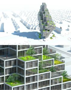 A similar approach can be found at a recent competition for the Rødovre Skyscraper won by MVRDV in association with ADEP.