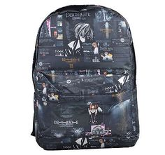 0d21a5ab92bc Anime Death Note Full Print Backpack School Bag Knapsack Zipper Rucksack  gift