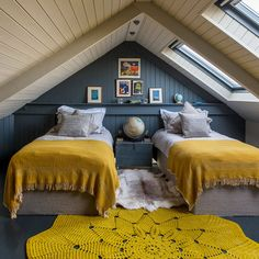 14 Trendy Bedroom Design and Decor Ideas for Your Next Makeover - The Trending House Attic Bedroom Designs, Attic Bedrooms, Upstairs Bedroom, Cozy Bedroom, Trendy Bedroom, Bedroom Decor, Bedroom Romantic, Romantic Cottage, Bedroom Ideas