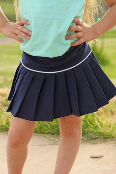 Sporty Girl Pleated Skirt  Alida Makes: Calling All Kids: Girl. Inspired.