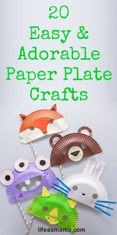 Got a ton of paper plates lying around and some bored children too? Make these easy and adorable paper plate crafts! From animals to bugs, there's something for everyone.