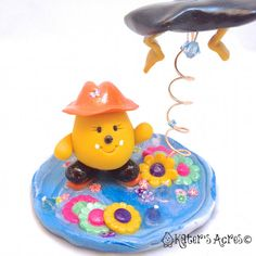 April Showers Thunderstorm PARKER Figurine  Polymer Clay Character Art by KatersAcres, $66.00