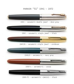 "Parker ""51"" timeline by C.M.Z., via Flickr"
