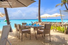 Blue beach restaurant at One & Only Reethi Rah Maldives