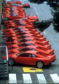 Ferrari 288 GTO. Crap load of gto's
