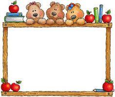 clipart school borders de minnie mouse - Google Search