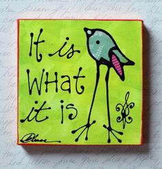 It is what it is by katieleese on Etsy Jackson Square, Mixed Media Painting, Buddhism, Wrapped Canvas, Original Paintings, I Shop, Meditation, Spirituality, The Originals