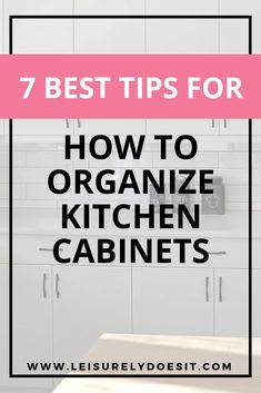 Learn my best tips for how to organize kitchen cabinets, step-by-step, even if they're small ones. This includes simple organizing ideas for pots and pans, food and even those awkward corner cupboards. Kitchen Drawer Organization, Home Organization Hacks, Organizing Your Home, Organization Ideas, Organising, Clean Kitchen Cabinets, Kitchen On A Budget, Cupboards, Kitchen Ideas