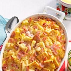 Eggs Benedict Casserole. You can make it the night before for a quick Christmas breakfast- after you've opened your presents, of course.