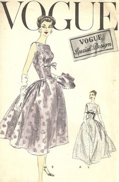 Vintage 1950s Sewing Pattern Glamorous Evening by MaisonMignot, $90.00