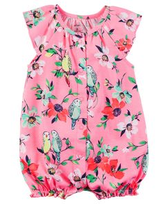 Baby Girl Snap-Up Cotton Romper from Carters.com. Shop clothing & accessories from a trusted name in kids, toddlers, and baby clothes.