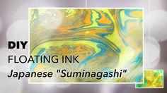 DIY | FLOATING INK | SUMINAGASHI | Kid Fun Craft