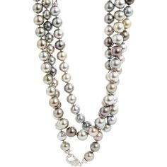 Sidney Garber Perfectly Imperfect Pearls Necklace ($95,700) ❤ liked on Polyvore featuring jewelry, necklaces, pearls, kaulakorut, extra long pearl necklace, drusy jewelry, 18 karat gold necklace, pearl necklace and grey pearl necklace