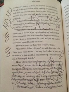 WHY WOULD YOU WRITE IN YOUR BOOK WITH PEN I'M SORRY I KNOW THIS IS SAD BUT NOOOO
