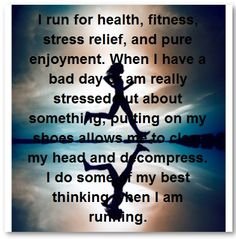 I run for myself