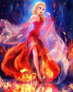 """Mi piace"": 300, commenti: 3 - disneyladies (@princess_disney_everything) su Instagram: ""Elsa in fire🔥💙…"""