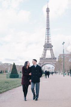 Romantic Paris Engagement Shoot | Paris Vacation Photographer Flytographer