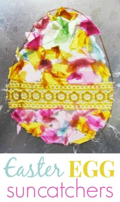 Easter Egg Suncatchers - a beautiful Easter craft for kids
