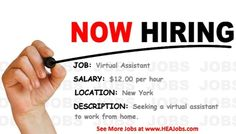 View more work from home jobs at HEAJOBS.com today!! New jobs posted daily! #jobs #jobposting #job #work #career #jobsearch #hiring…