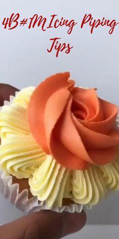 Cupcake Icing, Cupcake Party, Birthday Cupcakes, Cupcake Cakes, Cake Decorating Piping, Cake Decorating Videos, Cake Decorating Techniques, Piping Icing, Piping Tips
