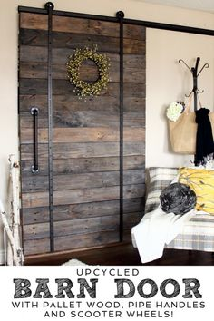 Duuuude, using a barn door instead of curtains would be amazing. You could slide them in place to act like a headboard/blackout curtains or slide them aside for decoration