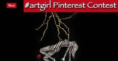 Follow #artgirl - Enter the contest - Create a board named #artgirl - pin your favorite giclée from http://karenpetty.com/shop - Win that giclée on August 1st! - tag all your favorites with #artgirl