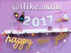 OK baby! Новогодний декор для салонов I like nails – гирлянда и фотобутафория