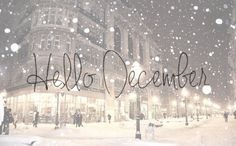 might as well embrace it... hello december:)