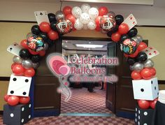 healthy breakfast ideas for kids age 9 to make 3 12 11 Casino Party Games, Casino Night Party, Casino Theme Parties, Party Themes, Ideas Party, Balloon Arch, Balloon Garland, Balloons, Theme Tattoo