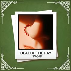 Today Only! $3 OFF this item.  Follow us on Pinterest to be the first to see our exciting Daily Deals. Today's Product: Sale -  Beaded Silver Nose Ring Wrapped with Carnelian Buy now: http://www.rockyournose.com/products/beaded-silver-nose-ring-wrapped-with-carnelian?utm_source=Pinterest&utm_medium=Orangetwig_Marketing&utm_campaign=Wrap%20Me